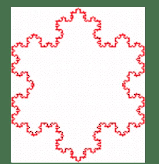 flocon de neige gros rouge
